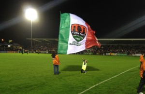 Cork City FC  - Shed End and Flag - 17/10/14